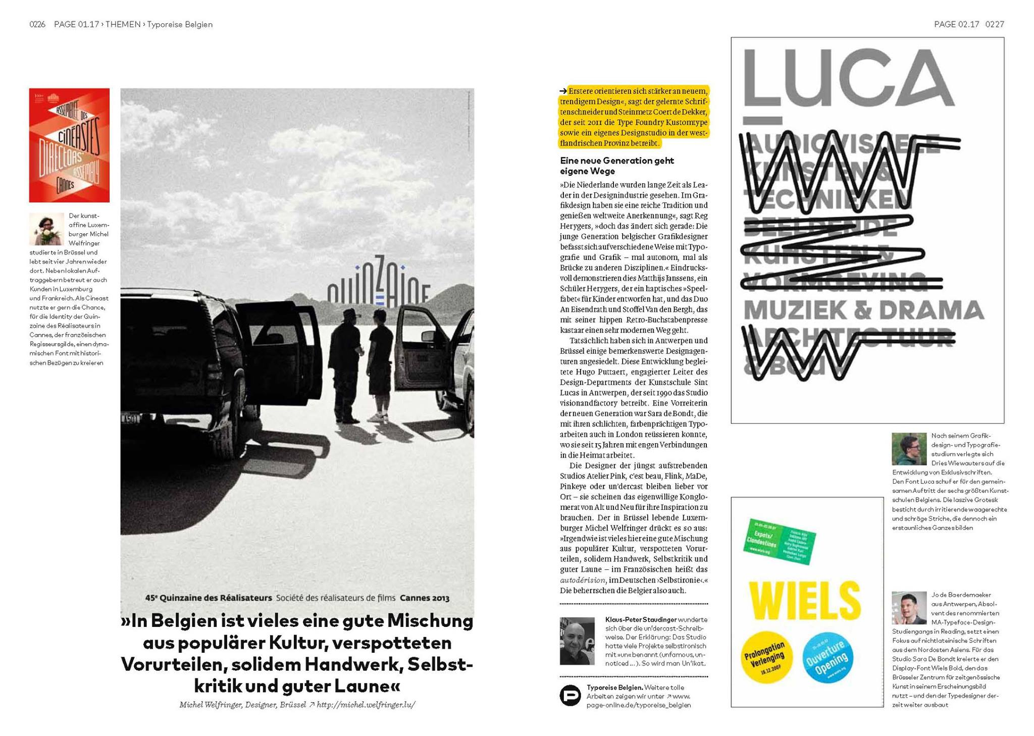 Kustomtype in Page Magazin